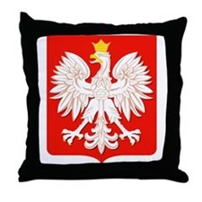 Polish White Eagle Throw Pillow