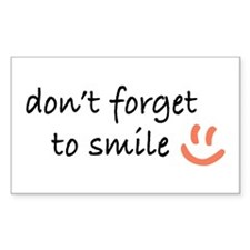 Don't Forget to SMILE - Peach Happy Face Decal
