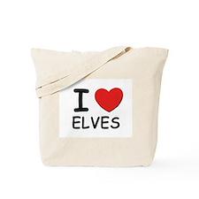 I love elves Tote Bag