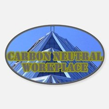 Green Building Oval Decal