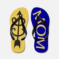 Yellow Gold Blue Cross Country MOM Flip Flops