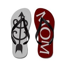Maroon Silver Grey Cross Country MOM Flip Flops
