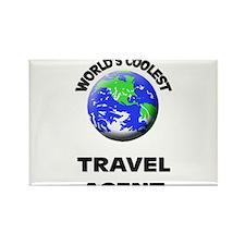 World's Coolest Travel Agent Rectangle Magnet