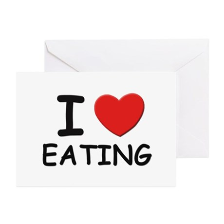 I love eating Greeting Cards (Pk of 10)