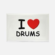 I love drums Rectangle Magnet
