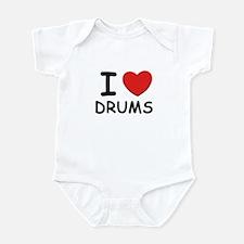 I love drums Infant Bodysuit