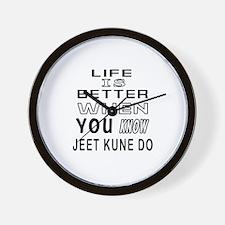 Jeet Kune Do Martial Arts Designs Wall Clock