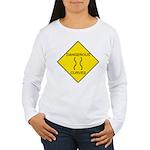 Dangerous Curves Sign Women's Long Sleeve T-Shirt