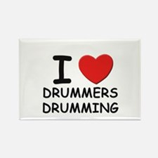 I love drummers drumming Rectangle Magnet