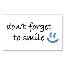 Don't Forget to SMILE - Blue Happy Face Decal