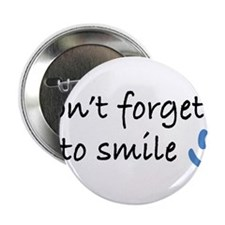 """Don't Forget to SMILE - Blue Happy Face 2.25"""" Butt"""