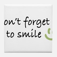 Don't Forget to SMILE - Green Happy Face Tile Coas