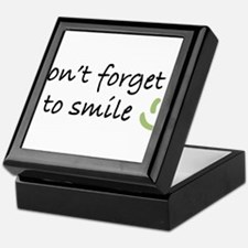 Don't Forget to SMILE - Green Happy Face Keepsake