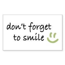 Don't Forget to SMILE - Green Happy Face Decal