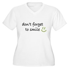 Don't Forget to SMILE - Green Happy Face Plus Size