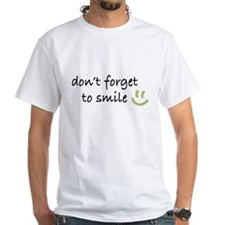 Don't Forget to SMILE - Green Happy Face T-Shirt