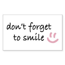 Don't Forget to SMILE - Pink Happy Face Decal