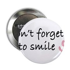 """Don't Forget to SMILE - Pink Happy Face 2.25"""" Butt"""