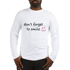 Don't Forget to SMILE - Pink Happy Face Long Sleev