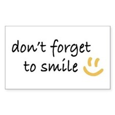Don't Forget to SMILE - Yellow Happy Face Decal
