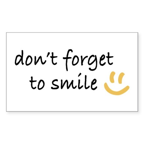 Don't Forget to SMILE - Yellow Happy Face Sticker