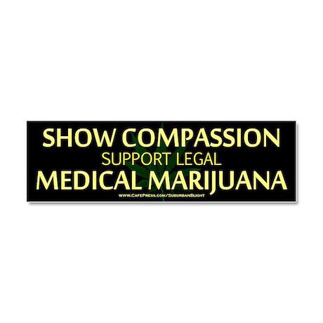 Compassion Medical Marijuana Car Magnet 10 x 3