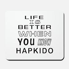 Hapkido Martial Arts Designs Mousepad