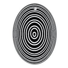 Concentric Sphere Retro Oval Ornament