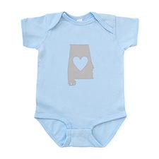 Heart Alabama Infant Bodysuit