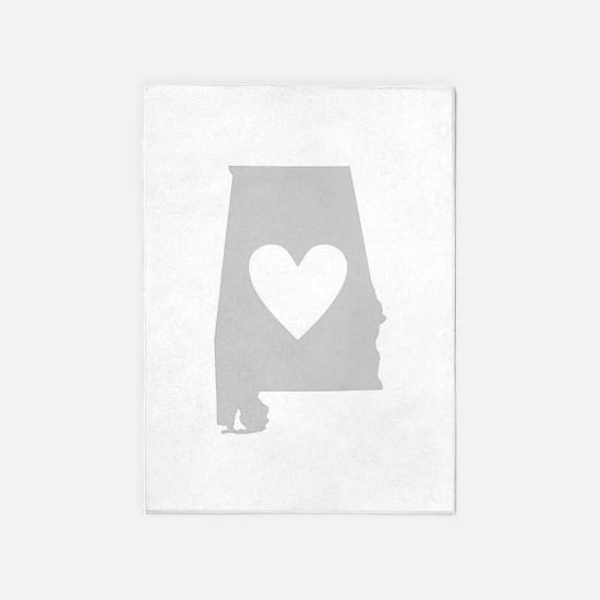 Heart Alabama 5'x7'Area Rug