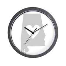 Heart Alabama Wall Clock