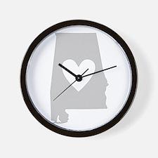 Heart Alabama Wall Clock
