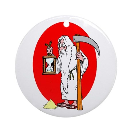 Father Time Losing Time New y Ornament (Round)