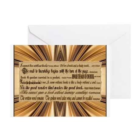 Quotes About Books Greeting Cards (Pk of 10)