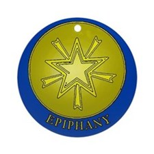 Epiphany Christian Symbol Porcelain Ornament