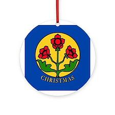 Christmas Christian Symbolism Round Ornament