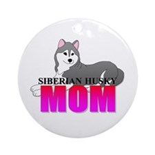 Siberian Husky Mom Ornament (Round)