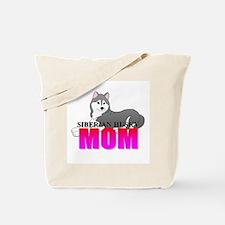 Gray Siberian Husky Mom Tote Bag