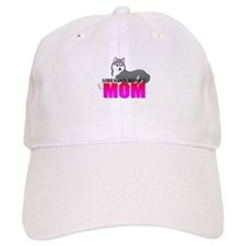 Gray Siberian Husky Mom Baseball Cap
