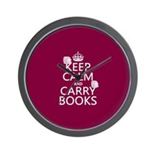 Keep Calm and Carry Books Wall Clock