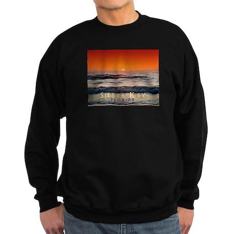 Siesta Key Florida Orange Sun Sweatshirt (dark)