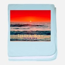 Siesta Key Florida Orange Sun baby blanket