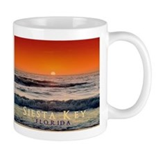 Siesta Key Florida Orange Sun Mug