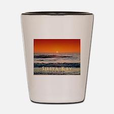 Siesta Key Florida Orange Sun Shot Glass