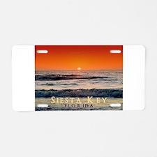 Siesta Key Florida Orange Sun Aluminum License Pla