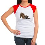 BULLDOG SMILES Women's Cap Sleeve T-Shirt