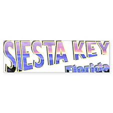 Siesta Key Fun Logo Bumper Sticker