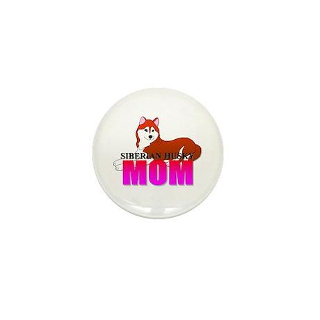 Siberian Husky Mom Mini Button (100 pack)