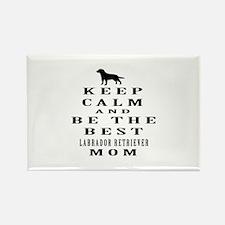 Keep Calm Labrador Retriever Designs Rectangle Mag
