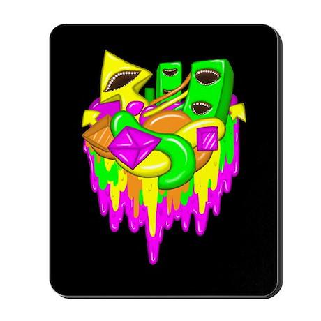 Neon Shapes Mousepad